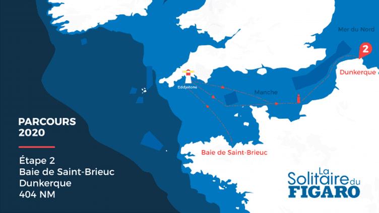 Le parcours de la deuxième étape de la Solitaire du Figaro