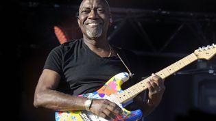 Le guitariste et chanteur guadeloupéen Jacob Desvarieux, le 15 septembre 2019 à La Courneuve (Seine-Saint-Denis). (SADAKA EDMOND / SIPA)