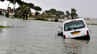 Inondations à Palavas-les-Flots (Hérault) le 28 novembre 2014. (  MAXPPP)