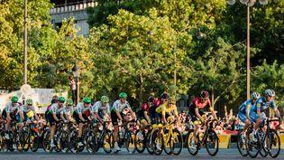 L'édition 2019 du Tour de France sur les Champs-Elysées à Paris, le 28 juillet 2019. (KARINE PIERRE / HANS LUCAS / AFP)