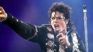 """Michael Jackson au stade de Wembley (G-B) sur le """"Bad Tour"""" en 1988.  (Rex Features/REX/SIPA)"""