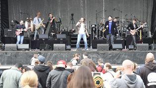 Le concert d'UB 40a l'hippodrome de Marcq en Baroeul a rythmé la fête de la musique de Lille, le 21 juin 2016. (MAXPPP)