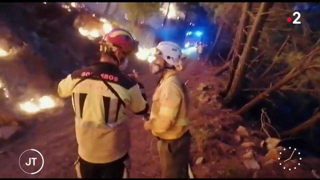 Espagne : les pompiers toujours mobilisés contre un incendie dans le sud du pays