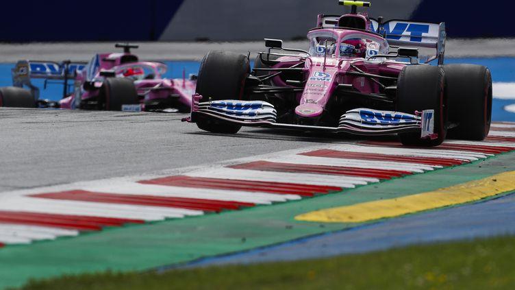 Les Racing Point lors du Grand Prix de Styrie (DARKO BANDIC / POOL)