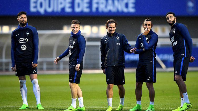L'Équipe de France à l'entraînement ke 23 mars 2017. (FRANCK FIFE / AFP)