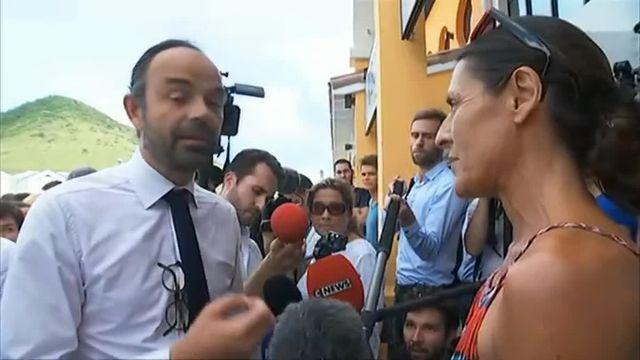 Le Premier ministre interpellé par une sinistrée de Saint-Martin