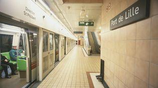 Une station du métro de Lille (Nord), le 2 juillet 2008. ( FRANCK DUNOUAU / PHOTONONSTOP / AFP)