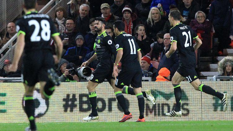 Dixième but de la saison pour Diego Costa (LINDSEY PARNABY / AFP)