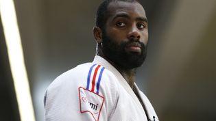 Teddy Riner, le 17 août 2015, lors d'un séance d'entraînement à l'Insep à Paris. (THOMAS SAMSON / AFP)