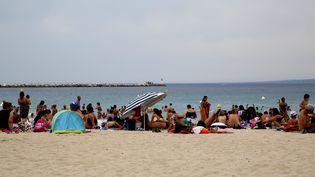 La plage des Catalans à Marseille, le 1er août 2017. (MAXPPP)