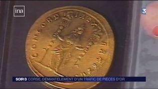 Des pièces d'or ont été saisies dans le port de Bastia. (FRANCE 3)