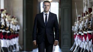Le président de la République, Emmanuel Macron, avant son discours au Congrès à Versailles (Yvelines), le 3 juillet 2017. (ETIENNE LAURENT/POOL / AFP)