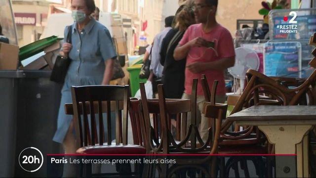 Paris : les terrasses prennent leurs aises