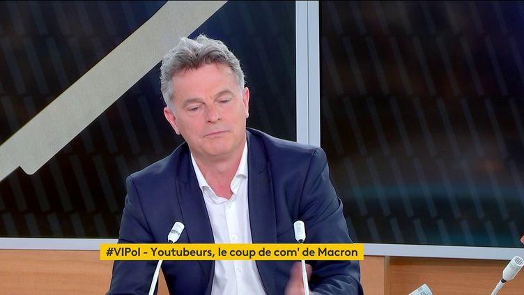 """Fabien Roussel, secrétaire national du PCF, était l'invité de """"Votre instant politique"""" sur franceinfo,lundi 24 mai. (FRANCEINFO)"""