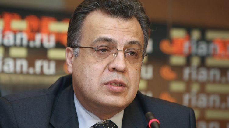 L'ambassadeur de Russie à Ankara Andreï Karlov, lors d'une conférence de presse, à Moscou (Russie), le 9 février 2009. (ILIYA PITALEV / RIA NOVOSTI  / AFP)