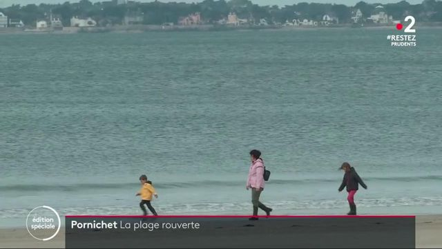 Déconfinement : la plage de Pornichet rouverte