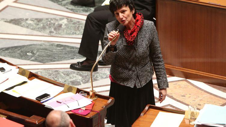 Dominique Bertinotti, ministre de la Famille, à l'Assemblée nationale, lors des débats sur le mariage pour tous, le 3 février 2013. ( MAXPPP)