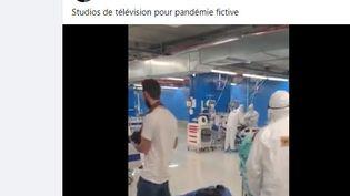 Une vidéo sortie de son contexte pour prouver que les malades du Covid-19 sont des acteurs. (Capture d'écran Facebook)