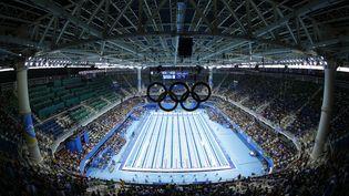 Une vue générale de la piscine olympique de Rio de Janeiro (Brésil), le 7 août 2016. (ODD ANDERSEN / AFP)