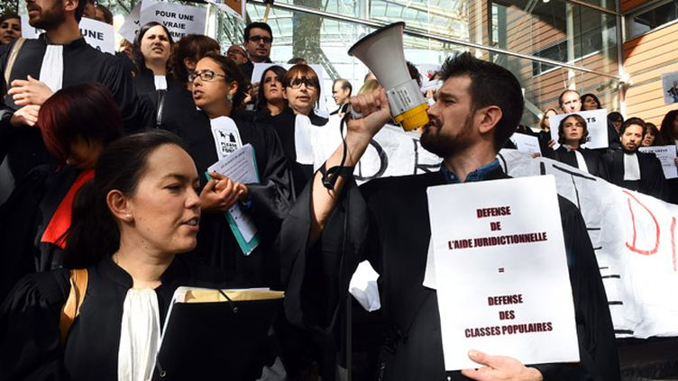 (Après trois semaines de manifestation des avocats, accord sur l'aide juridictionnelle © PHOTOPQR/LA DEPECHE DU MIDI)