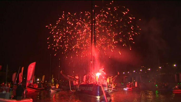 Pas de fête ni de foule cette année pour l'arrivee des marins du Vendée Globe à cause de la crise sanitaire (France 3)