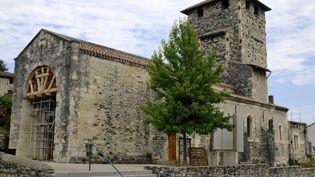 """L'église Saint-Etienne de Mélas au Teil, en Ardèche, fait partie des 18 sites """"prioritaires"""" retenus pour la troisième édition duLoto du patrimoine. (BRINGARD DENIS / HEMIS.FR /)"""
