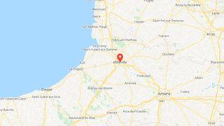 La commune d'Abbeville, dans la Somme. (GOOGLE MAPS)