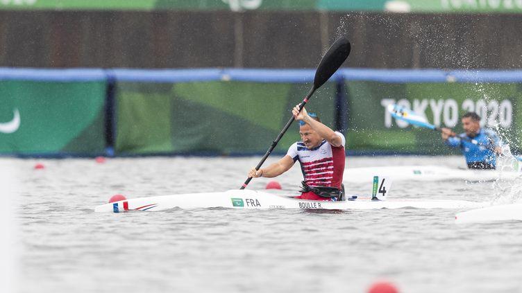 Rémy Boullé, médaillé de bronze en para canoë sur le 200 mètres en catégorie KL1, lors des Jeux paralympiques de Tokyo. (G.MIRAND)
