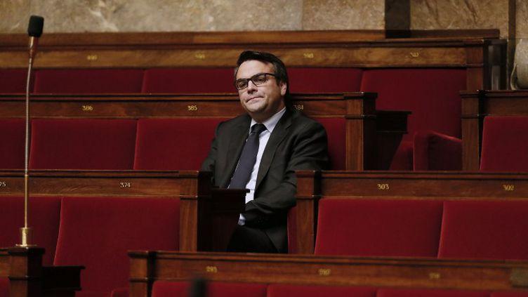 Thomas Thévenoud, le 28 novembre 2014 sur les bancs de l'Assemblée nationale. (PATRICK KOVARIK / AFP)