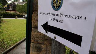 Entrée du site de laJournée d'appel de préparation à la défense àThionville (Moselle). (MAXPPP)