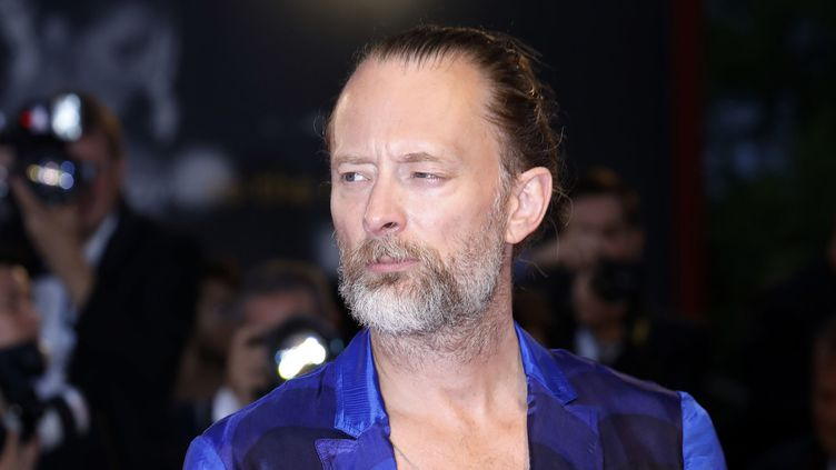 "Thom Yorke de Radiohead arrive à la première du remake de ""Suspiria"" de Luca Guadagnino à la 75e Mostra de Venise, le 1er septembre 2018.  (Dave Bedrosian / MaxPPP)"