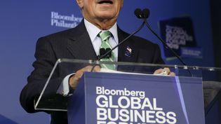 Le milliardaire Michael Bloomberg lors d'un discours à New York, le 25 septembre 2019. (KENA BETANCUR / AFP)