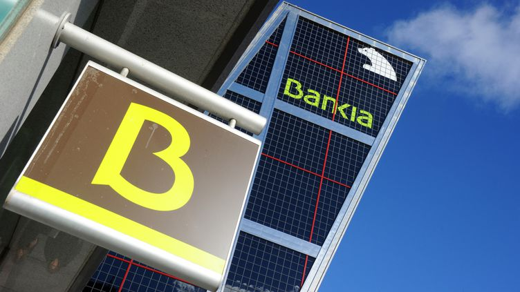 La banque espagnole Bankia, quatrième banque d'Espagne, a été nationalisée au mois de mai. (DOMINIQUE FAGET / AFP)