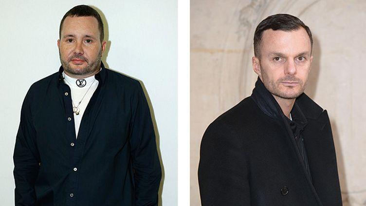 Kim Jones (à gauche) remplace Kris Van Assche à la direction artistique de Dior Homme  (Getty Images)