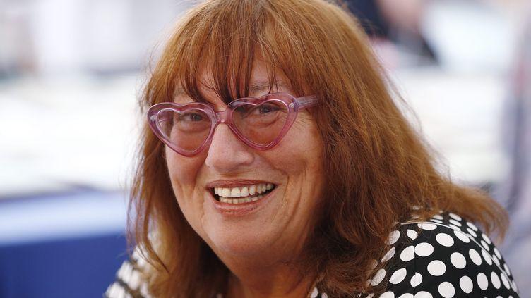 Susie Morgenstern au salon du livre de Nice (4 juin 2016). (FRANTZ BOUTON / MAXPPP)