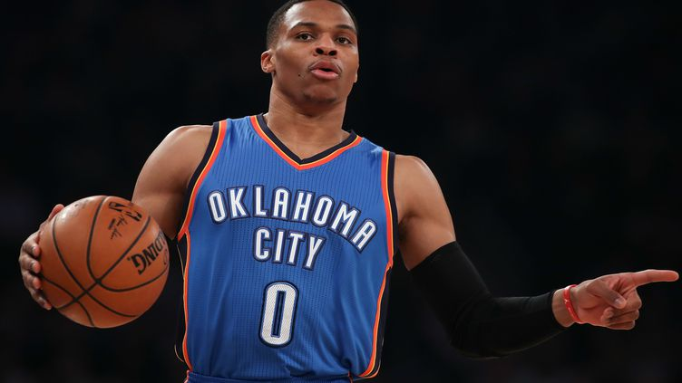 Le joueur du Thunder, Russell Westbrook (MICHAEL REAVES / GETTY IMAGES NORTH AMERICA)