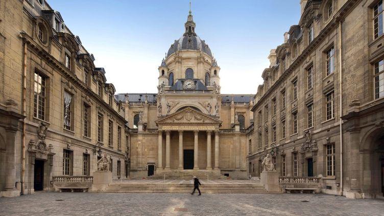 La cour d'honneur de la Sorbonne à Paris, le 8 mars 2020. (MANUEL COHEN / MANUEL COHEN / AFP)