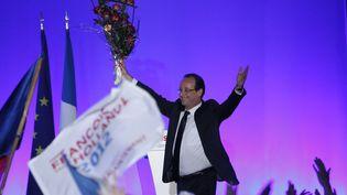 François Hollande célèbre sa victoire à Tulle (Corrèze), le 6 mai 2012. (REGIS DUVIGNAU / REUTERS)