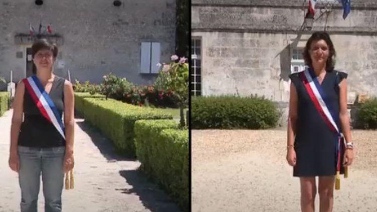 France 2 a suivi le quotidien d'Hélène Tournadre et Élisabeth Dumont, deux maires qui conjuguent activité professionnelle, rôle d'élue et vie de famille. (FRANCE 2)