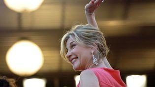 Michèle Laroque a convaincu plus de 2000 personnes de s'embarquer dans l'aventure de son nouveau film  (ANNE-CHRISTINE POUJOULAT / AFP)