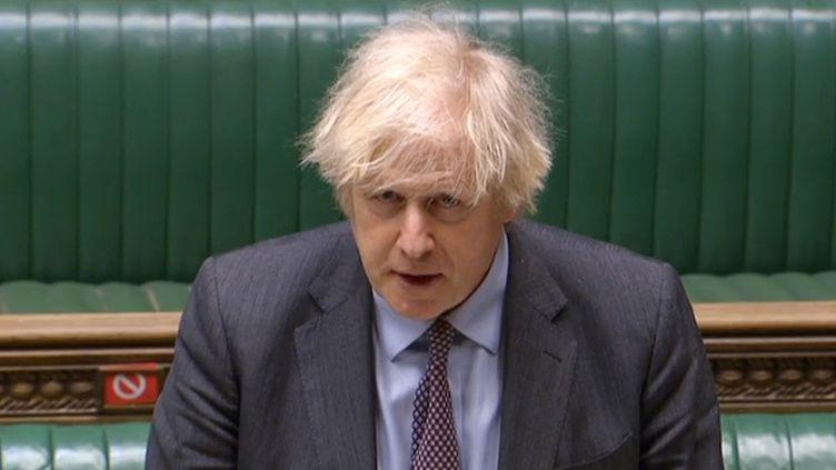 Le Premier ministre britannique, Boris Johnson, le 22 février 2021 à la Chambre des communes, à Londres. (AFP)