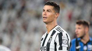 Cristiano Ronaldo lors d'un match de pré-saison entre la Juventus Turin et l'Atalanta Bergame, le 14 août au Juventus Stadium. (NDERIM KACELI / DPPI via AFP)