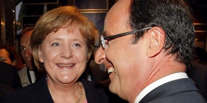 Rencontre Merkel Hollande en 2012. Quelle croissance pour l'Europe ? (MICHEL SPINGLER / POOL / AFP)