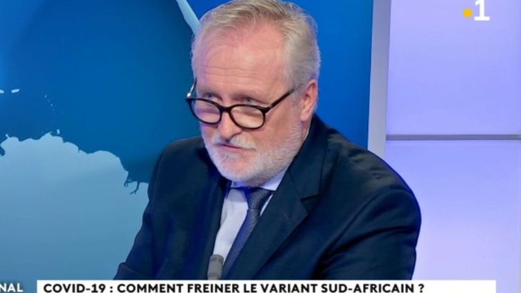 Jean-François Colombet, préfet de Mayotte, sur le plateau du journal télévisé de Mayotte la 1ère, le 18 janvier 2021. (MAYOTTE LA 1ERE)