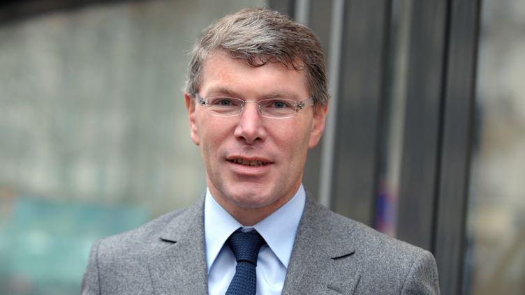Le PDG du groupe Eiffage, Pierre Berger, à Paris, le 25 février 2011. (ERIC PIERMONT/AFP)