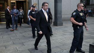 L'ancien avocat de Donald Trump,Michael Cohen, quitte le tribunal de Manhattan, à New York aux Etats-Unis, le 21 août 2018. (MIKE SEGAR / REUTERS)