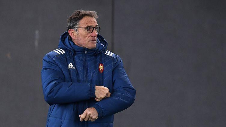 Guy Novès, le sélectionneur du XV de France, le 24 janvier 2017, à Marcoussis. (FRANCK FIFE / AFP)