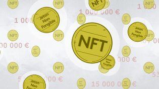 """Au premier trimestre 2021, le volume des ventes de """"NFT"""" aurait dépassé les deux milliards de dollars. (PIERRE-ALBERT JOSSERAND / FRANCEINFO)"""