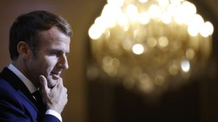 Le président de la République Emmanuel Macron à l'Elysée (Paris) le 24 octobre 2021 (LUDOVIC MARIN / POOL / AFP POOL)