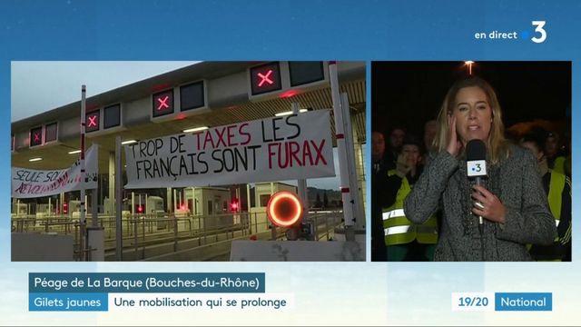"""""""Gilets jaunes"""" : la mobilisation se prolonge dans la nuit"""